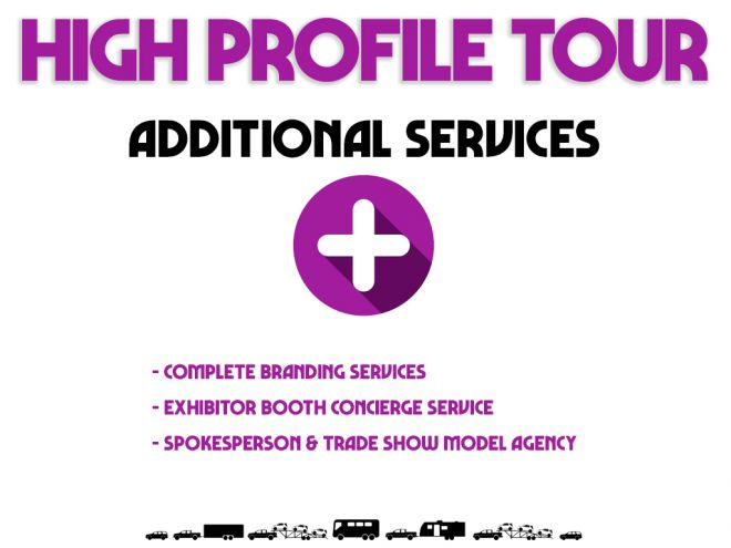high profile tour pitch deck additional services