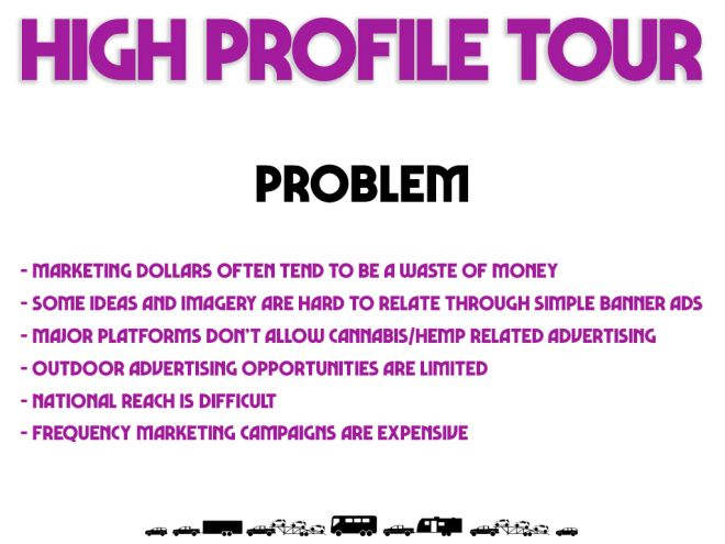 high profile tour pitch deck problem page