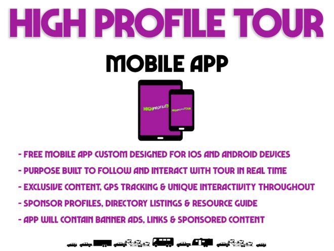 high profile tour pitch deck mobile app