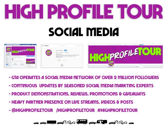 high profile tour pitch deck social media