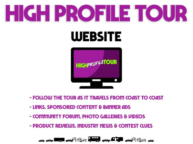 high profile tour pitch deck website