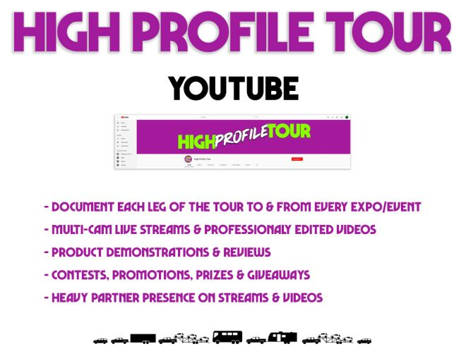 high profile tour pitch deck youtube channel
