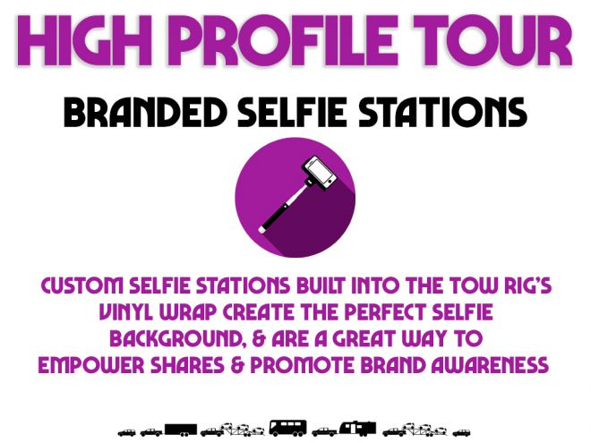high profile tour pitch deck branded selfie stations