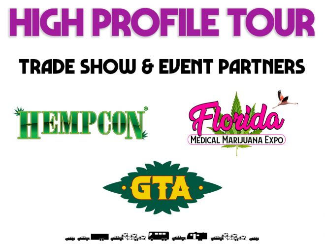 high profile tour pitch deck trade show event partners