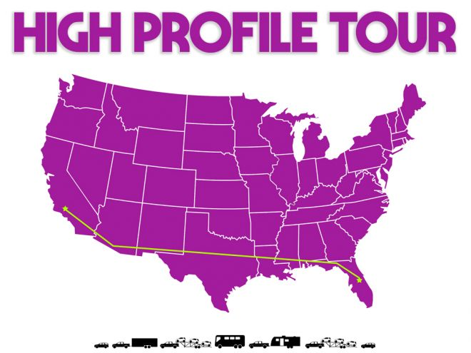 high profile tour pitch deck tour map